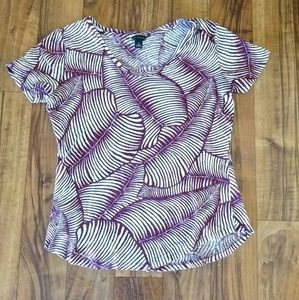 Ann Taylor leaf print top